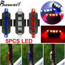 Cycling Bike Tail Light 5 LED USB Rechargeable Bicycle Warning Rear Safety Free
