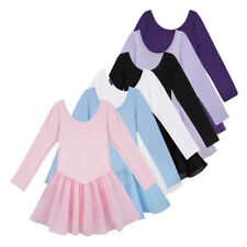 Ballett Trikot Body Tutu Rock Kinder Langarm Ballettkleid Ballettanzug Kleidung