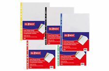 A4 Plastic Poly Punched Pockets Strong Filing Wallets Sleeves 25 - Colours