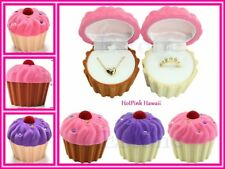 JEWELRY BOX Cupcake Shaped Ice cream Cone Ring Necklace Earrings Chocolate Pink