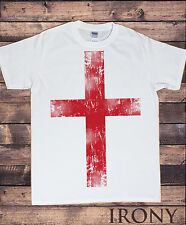 Uomo T-shirt - England St Georges Bandiera Euro 2016 Football Stampa