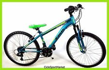 "Bicicletta MTB Mountain Bike 24"" In Acciaio ""KITE BEACH"" CAMBIO SHIMANO 18v"
