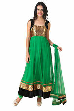 Fasense Ethnic Wear Readymade Long Anarkali Salwar Suit Churidar VG048 G