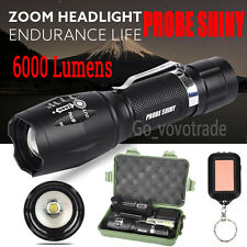 Zoom 6000Lm XM-L T6 LED Shadowhak Flashlight Focus Torch Lamp +18650 Battery UK