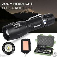 6000LM Shadowhawk XM-L T6 LED 5 Modes Zoom Flashlight Torch Lamp&Battery Set Lot