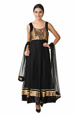 Fasense Ethnic Wear Net Long Anarkali Salwar Suit Churidar VG048 B
