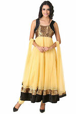 Fasense Ethnic Wear Net  Long Anarkali Salwar Suit Churidar VG048 H