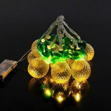 10LED Pineapple Battery Operated Fairy String Lights Party Christmas Home Decor