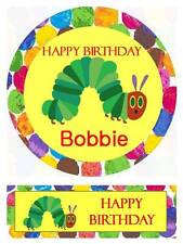 The Very Hungry Caterpillar Personalized Edible Cake toppers 7 Inch  Precut