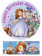Disney Sofia the First Personalized Edible Cake toppers 7 Inch/ cupcakes  Precut