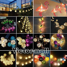 10/20LED Battery Operated Christmas String Fairy Lights Xmas Indoor/Outdoor Deco