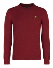 Lyle & Scott Men's Crew Neck Lambswool Jumper - Red Marl