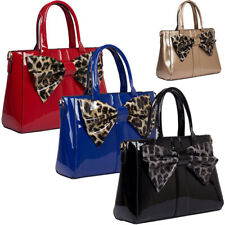 Fashion Womens Designer Office Bow Tote Bag Ladies Shoulder Handbag Work New UK