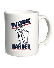 Tazza 11oz BEER0058 Funny Shirt - Work Harder