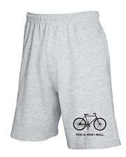 Pantalone Tuta Corto OLDENG00274 this is how i roll bicycle