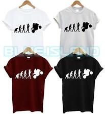 EVOLUTION OF MOTORBIKE T SHIRT MOTORCYCLES RIDER BIKES BIKER GIFT FUNNY COOL NEW