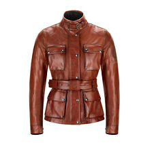 "Belstaff Classic Leather Tourist Trophy ""Aintree"" Ladies Jacket - Red"