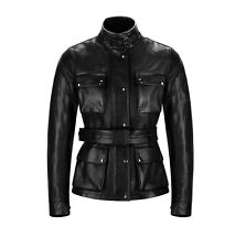 "Belstaff Classic Leather Tourist Trophy ""Aintree"" Ladies Jacket - Black"