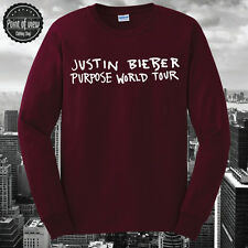 Justin Bieber T-Shirt Purpose Tour Believer Unisex T-Shirt Purpose Longsleeve