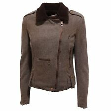 8857Q giubbotto CYCLE marrone melange giacca donna jacket woman