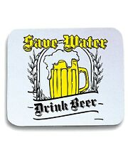 Tappetino Mouse Pad T0282 save water drink beer bevande sballo