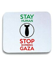 Tappetino Mouse Pad T0796 stop bombing gaza politica
