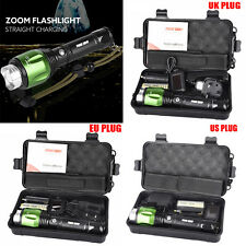 5000lm G700 X800 XML T6 LED Zoom Tactical Military Flashlight Torch Lamps Set UK