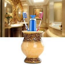 Bathroom Resin Toothbrush Holder Rose Pattern Toothbrush Stand Bath Accessories