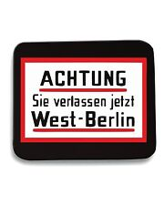 Tappetino Mouse Pad OLDENG00376 achtung west berlin