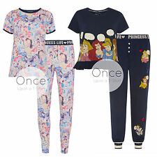 PRIMARK Ladies DISNEY PRINCESS LIFE COLLAGE PRINT TShirt Pyjama PJ Pajama Items