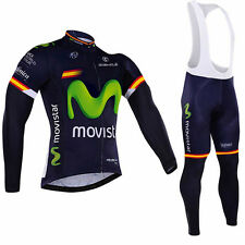 MOVISTAR Spain Short/Long sleeve Replica Cycling Jersey and Bib Set Racing Pro