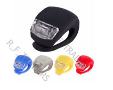 CYCLING SILICON FRONT & REAR LEDs LIGHT BIKE BICYCLE WHEEL SAFETY LAMP FLASHING
