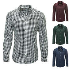 Jack & Jones Camicia uomo Manica lunga Cotone Business Casual A Quadri NUOVO