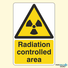 Radiation Controlled Area Sign