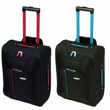 Cabin Approved On Board Wheeled Hand Luggage Travel Trolley Flight Holdall Bag