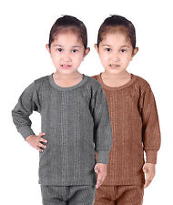 Kids Unisex Body Warmer Thermal Wear Top Color Assorted (pack of 2)