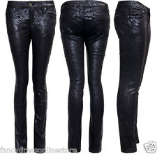 NEW WOMEN'S GIRLS LADIES SUPER SNAKE PRINT JEANS SKINNY FIT HIGH WAIST TROUSERS