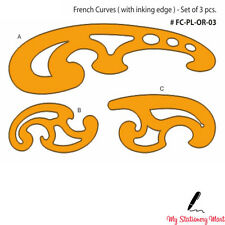 French Curve Ruler Set of 3 Rulers Technical Drawing Stencil Templates Curves