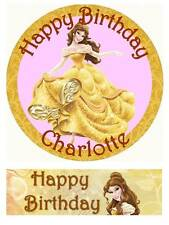 Disney Belle Beauty and the beast Personalized Edible Cake toppers Precut