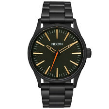 Nixon Herren Uhr Sentry 38 SS - All Black / Surplus