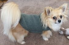 """11""""- 15""""  Hand Made Small Dog/Puppy/Tea Cup Chihuahua Jumper Coat. DK"""