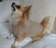 """10"""" Male / Unisex Hand Made Small Dog/Puppy/Tea Cup Chihuahua Jumper/Coat DK"""