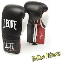 GUANTONI DA BOXE LEONE RE ACTION CON LACCI 10OZ GN054L KICK BOXING MUAY THAI