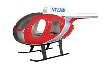 MD 500D GFK-Rumpf für 450 Helikopter, rot zB t-rex CopterX Blade Hughes fuselage