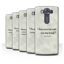 STUFF4 Phone Case/Back Cover for LG V10/H900/H901/VS990 /Famous Quotes