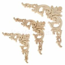 Exquisite Classic Wood Carved Corner Onlay Applique Frame Furniture Craft Decor