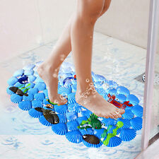 PVC Shower Mat Bath Bathroom Floor Anti Non Slip Suction Cups Shower Room EW
