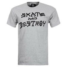 Thrasher Herren T-Shirt Skate and Destroy - grey mottled