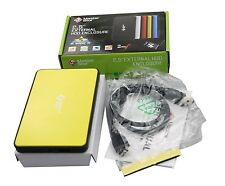 """MasterStor One Touch Backup drive USB 3.0 2.5"""" External Hard Disk SATA MS Yellow"""