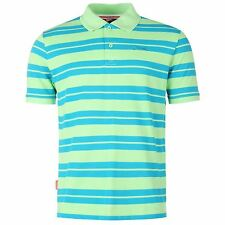 Slazenger Pique Yarn Dye Polo Shirt Mens Green Top T-Shirt Tee